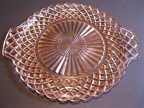 Waterford Waffle Serving Plate - Pink