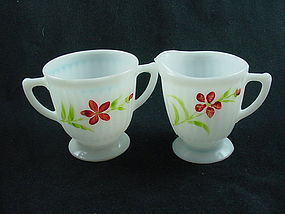 Petalware Florette Sugar & Creamer Set