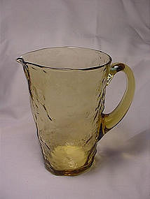 Morgantown Crinkle Tijuana Pitcher - Topaz