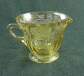 Madrid Depression Glass Creamer - Amber