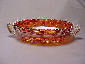 Beaded Block Iridescent Bowl