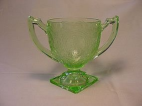 Horseshoe Green Sugar Bowl