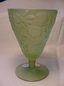 Consolidated Glass Five Fruits Goblet