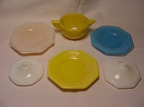 Akro Agate Octagonal Large Assorted Dishes
