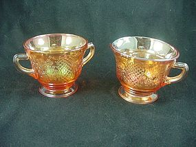 Normandie Iridescent Sugar & Creamer Set